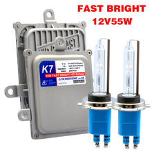 AC 12V 55W Quick Start Slim Lastro HID Xenon Conversion Kit Farol H4 H1 H3 H7 H11 9005 HB3 9006 HB4 D2H 9012 5500K 6500K