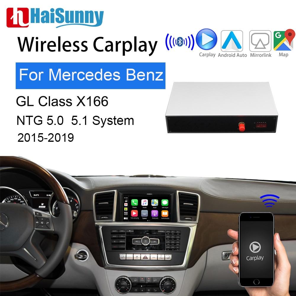 Беспроводной автомобильный видео интерфейс Apple CarPlay для Mercedes GL class X166 2015 19 поддержка OEM навигационной системы Android Auto AirPlay