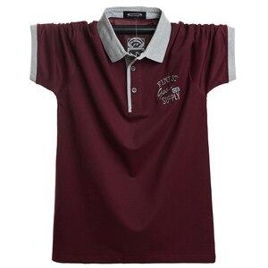 Image 1 - 2020 erkekler kısa Polo GÖMLEK Slim Fit Camisa rahat pamuk yaz kısa kollu gömlek Homme 5XL artı boyutu iş iş başında gömlek