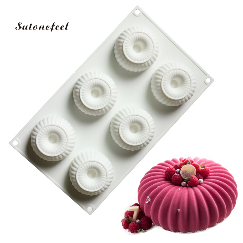Donuts Shape Silicone Cake Mold DIY Silicone Form Moulds For Mousse Baking Chocolate Cookie Mold Cake Decorating Tools