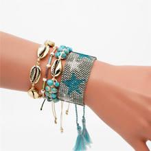 Go2boho Delcia MIYUKI Bracelet Shell Women Star Pulseras Mujer 2019 Jewelry Summer Beach Tassel Natural Stone Armband