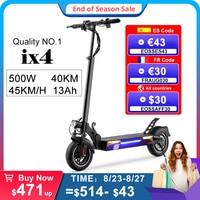 Iscooter-patinete eléctrico para adulto ix4 de 10 pulgadas, 45 km/h, batería de 13AH, 48V, 500W, todoterreno, plegable, disponible en Alemania