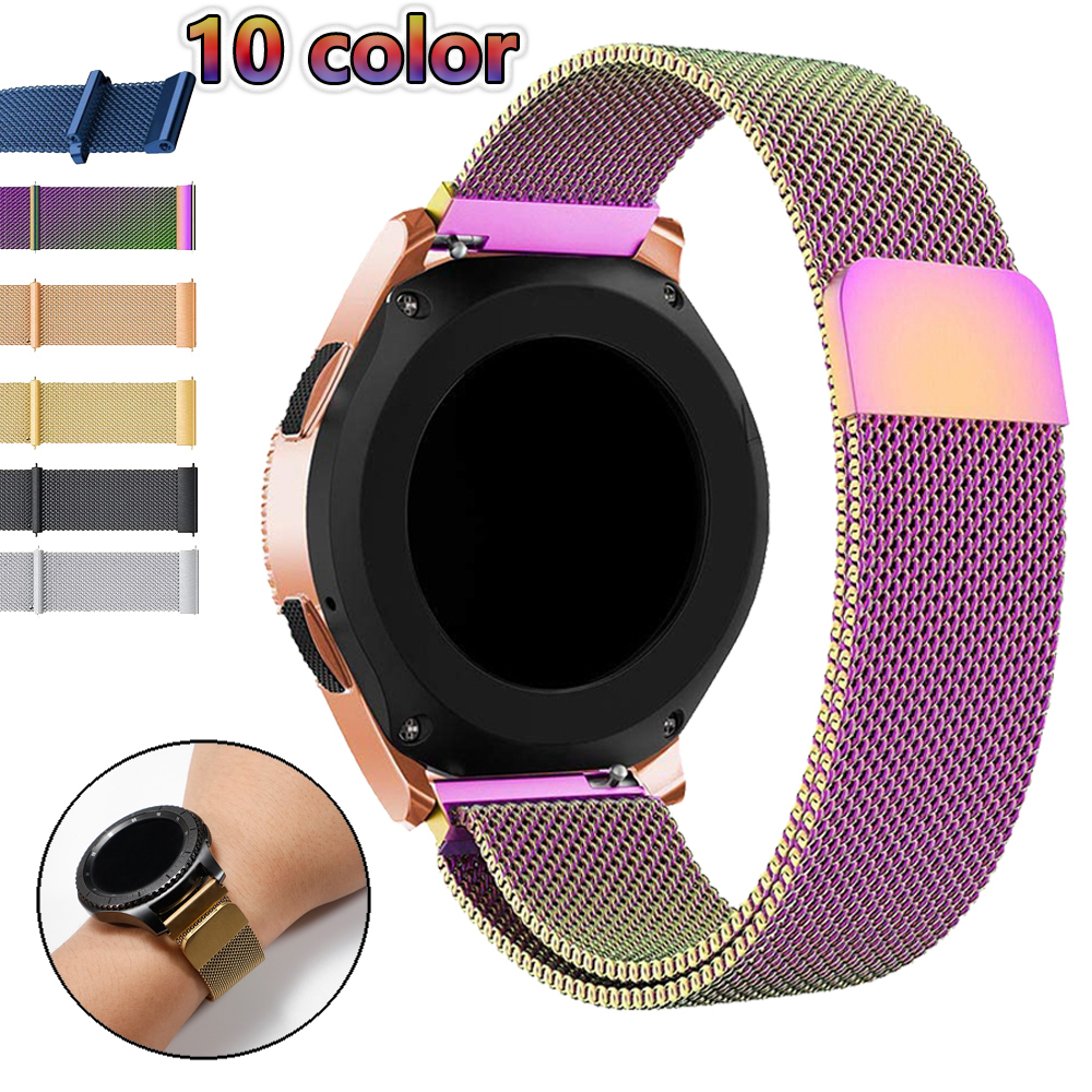 22mm Watch Band For Samsung Galaxy Watch 46mm 42 Active 2 Gear S3 Frontier Strap Milanese Amazfit Bip 20 Huawei Watch GT Strap