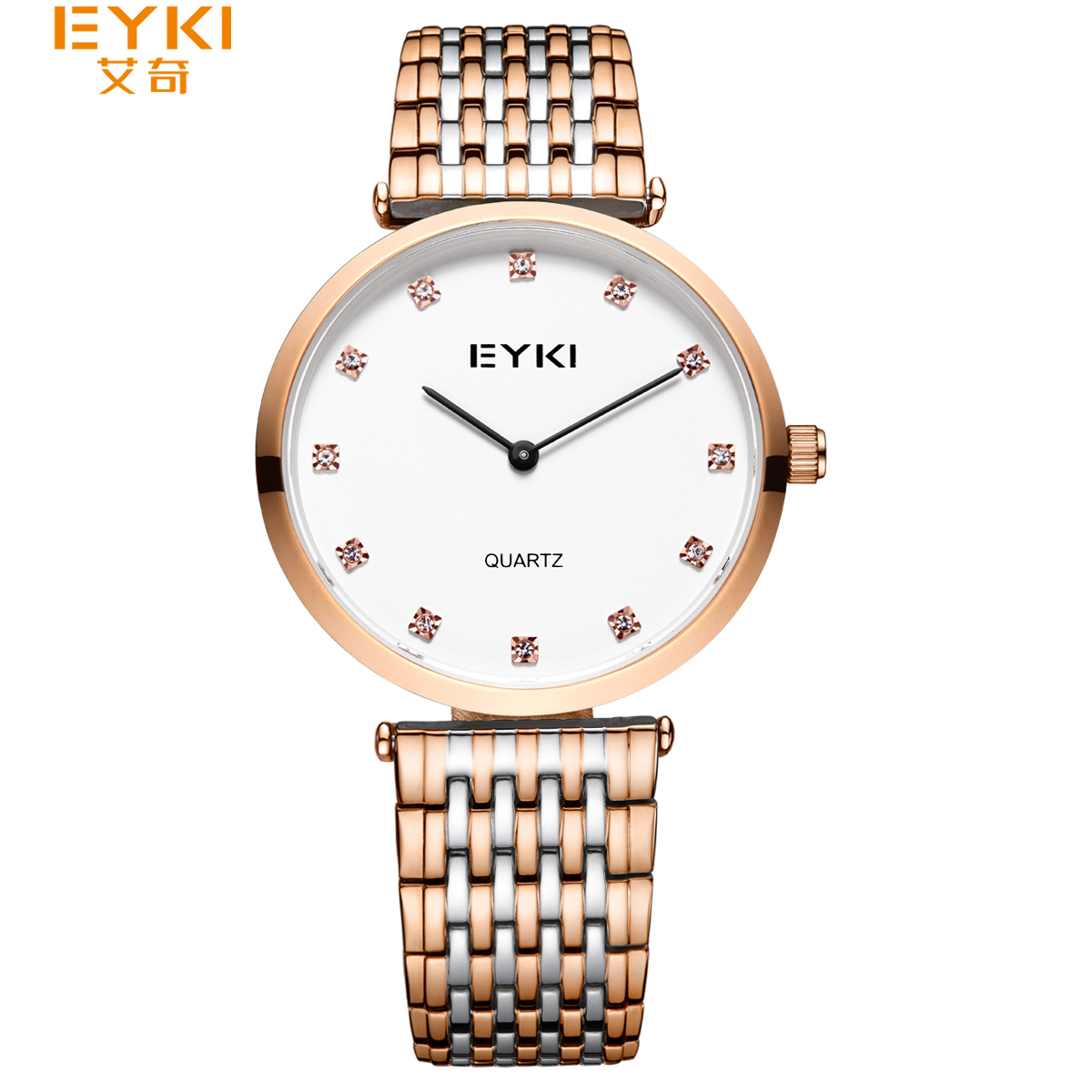 NO.2 Woman Bracelet Watches Ladies Roman Numeral Stainless Steel Quartz Dress Watch Clock For Women