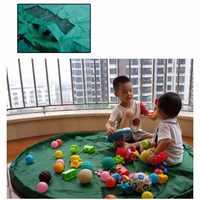 Portatile Giocattolo Per Bambini Sacchetto di Immagazzinaggio Conveniente Al di Fuori Coperta Da Picnic Gioco Zerbino Lego Giocattoli Organier Box Pratico Borse contenitore per il Bambino