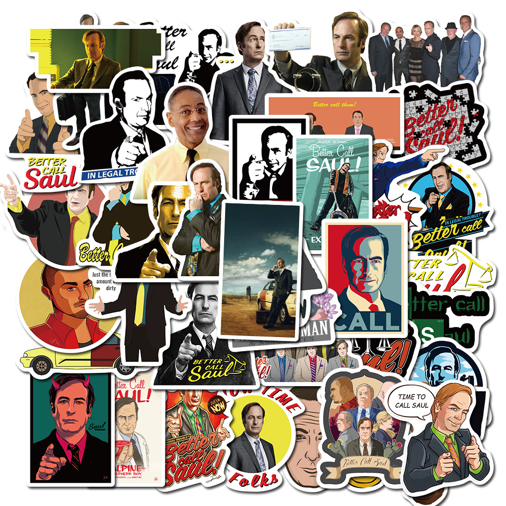 50PCS/set TV Show Better Call Saul Stickers For Laptop PC Guitar Decal Skateboard Suitcase Waterproof Sticker