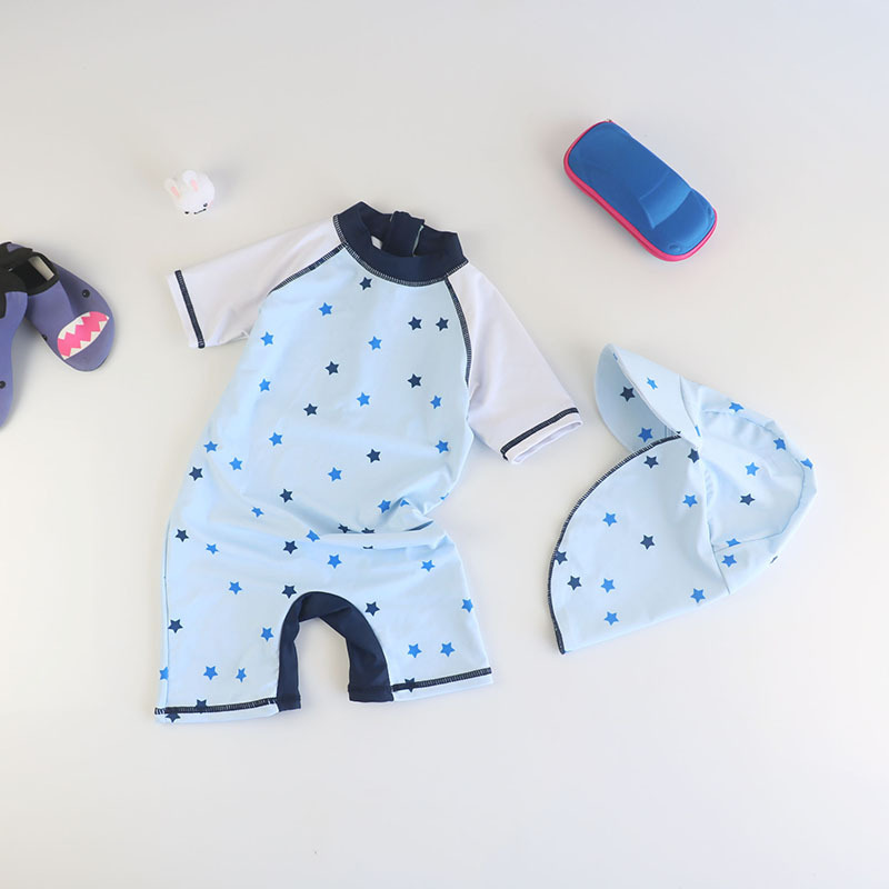 Sun-resistant KID'S Swimwear BOY'S Boys And Girls Surfing Jumpsuit South Korea Quick-Dry Hot Springs Swimwear Warm Quick-Dry