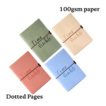 A5 Elastic Band Dotted Notebook Dot Grid Journal Soft Cover Cute Simple Fashion Travel Diary Planner