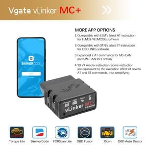 Image 3 - Vgate vLinker MC + ELM 327 Bluetooth 4.0 skaner samochodowy OBD2 wifi automatyczne narzędzie diagnostyczne dla androida/IOS ELM327 OBD 2 ODB2 Bimmercode