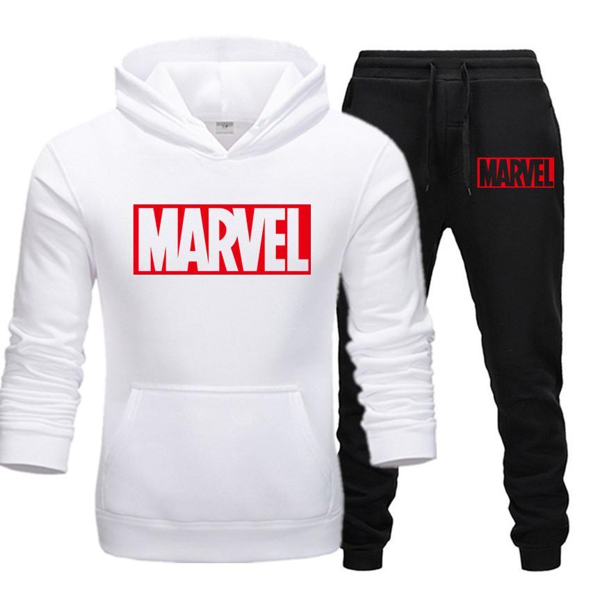 New Hot Keep Warm Two Pieces Set Fashion Hoodies Sportswear Men Tracksuit Hoodie Autumn Men Brand Clothes Hoodies+Pants Sets