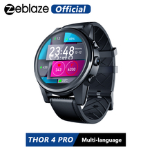 Zeblaze Thor 4 Pro 4G Smartwatch 1.6 Inch Crystal Display Gps/Glonass Quad Core 16 Gb 600 Mah hybrid Leather Strap Smart Horloge Mannen