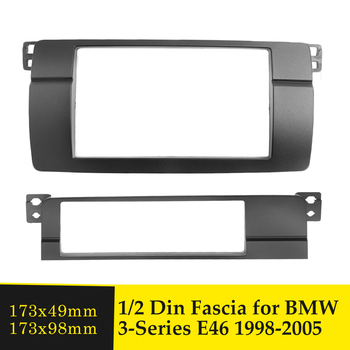 Double Din Car Radio Fascia One Din DVD GPS Stereo Panel Dash Mount Trim Kit Surround Frame Bezel For BMW 3 Series E46 1998-2005 image
