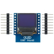 "10pcs 0.66 ""pollici 64X48 IIC I2C OLED LED Dispaly LCD Shield Compatibile Display da 0.66 pollici per WEMOS D1 MINI ESP32"