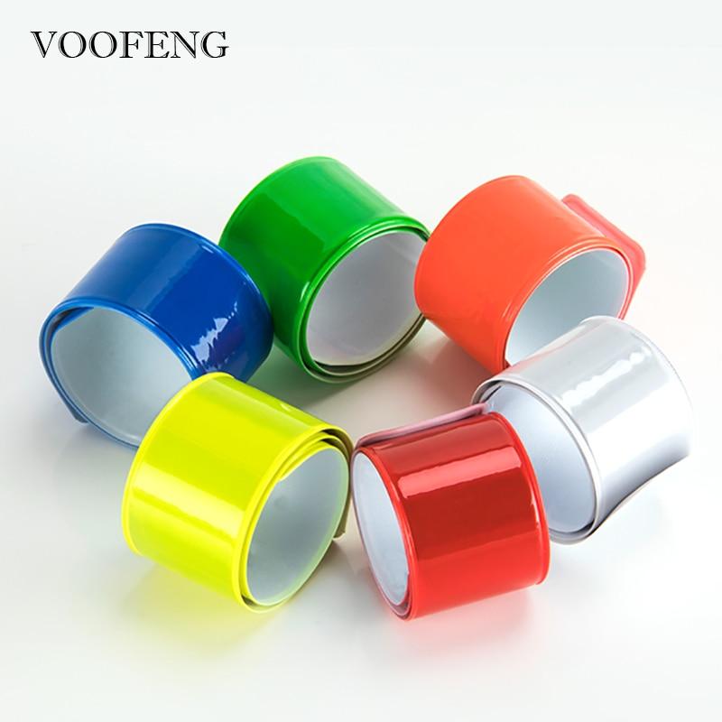 6pcs Hi Vis Reflective Slap Band For Night Sports Safety Running Cycling Multi-Color Bracelet Wristband Strap 30CM
