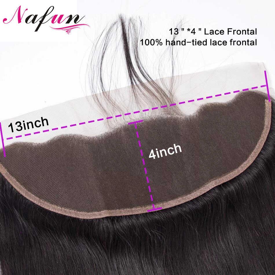 NAFUN brasileño Body Wave cierre Frontal de malla cabello humano Cierre de encaje Remy 22 pulgadas cierre superior vendedores de cabello pre-desplumado