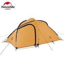 Naturehike משודרג Hiby קמפינג אוהל חיצוני 3 אנשים 210T פוליאסטר משפחתי שכבה כפולה 2019 חדש Hiby אוהל NH18K240 P