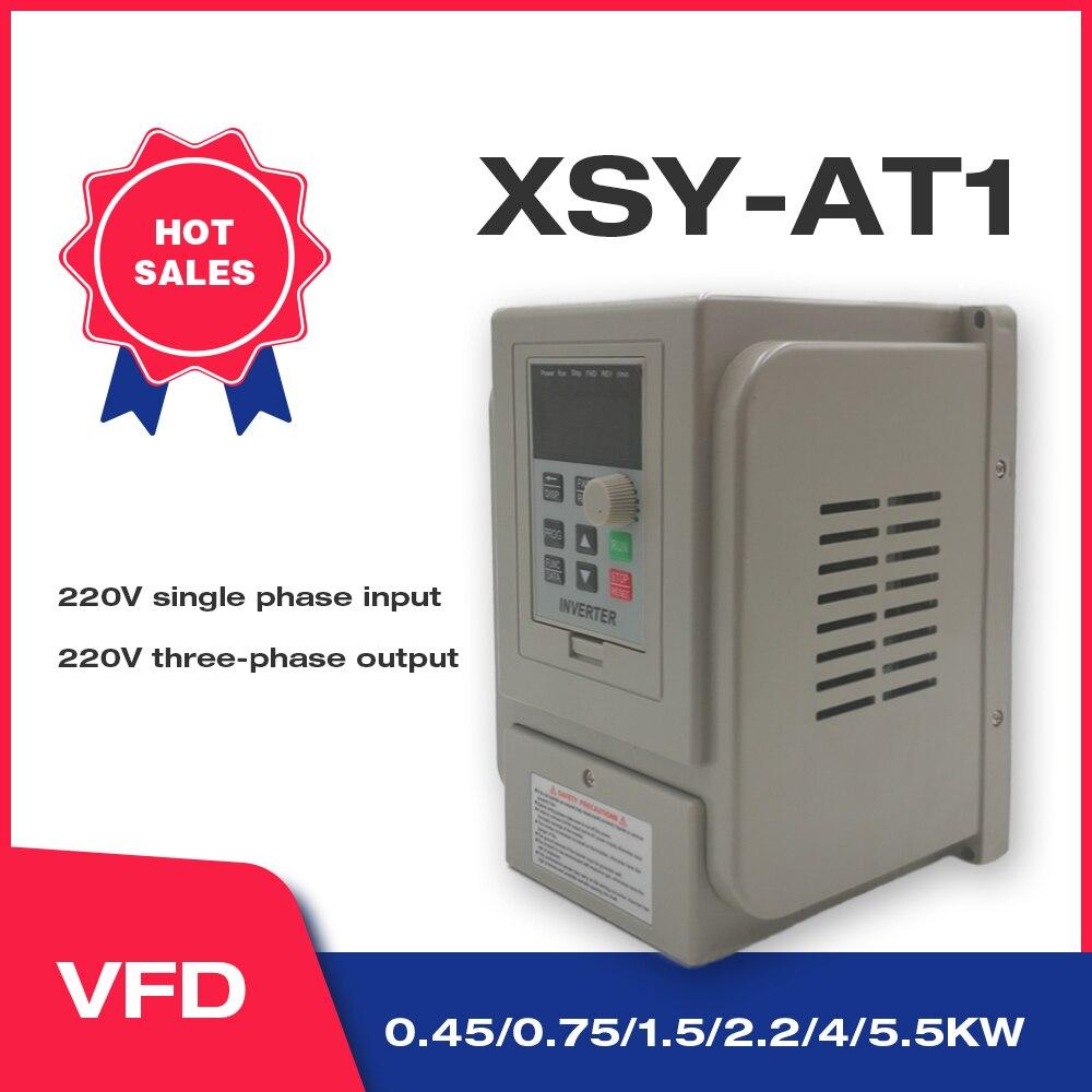 Частотно-регулируемым приводом 1.5KW/2.2KW/4KW универсальные классические преобразователь частоты XSY-AT1 3P 220V Выход Бесплатная доставка частотно-р...