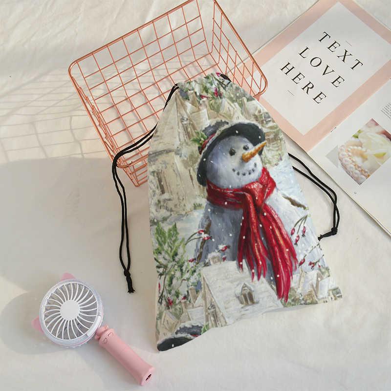 Bolsa de hombro de viaje de bolsillo de regalo con estampado de Feliz Navidad, Mochila de gimnasio para hombre