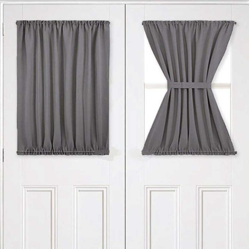 Patio French Door Window Panel Thermal Blackout 54 Wx40 L Kitchen Window Curtain Sliding Glass Door Shading Cloth Curtain Panel Curtains Aliexpress