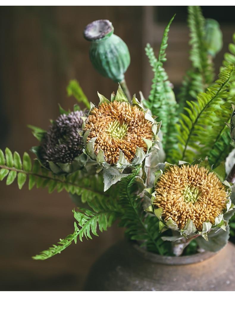 1Pcs Artificial Sunflower Fake Flower High Quality Simulation Silk Sunflower For Wedding Home Christmas Decoration QW16 (7)
