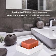 Практичный двухсторонний держатель для мыла, прочный мыльный поднос из нержавеющей стали, портативный прямоугольник, сушилка для дома, ванная комната