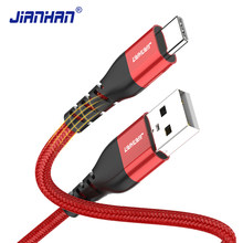 Câble USB JianHan Type C pour Samsung S20 S10 S9 S8 3A câble de chargeur rapide type-c pour cordon Note 10 9 8 USB-C