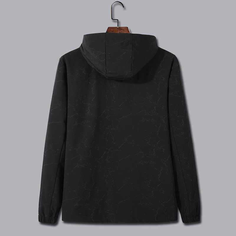 Plus größe 8XL 7XL Männer herbst Jacken 2020 Neue Frühjahr Heißer Verkauf Mann Mit Kapuze Dünne mode Jacken Männlichen Hoodie Windjacke große größe