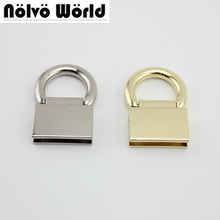 50pcs 10pcs 45*28mm High quality metal fitting hardware handbag/bags tassel cap clasp square buckle screw connector bag hanger