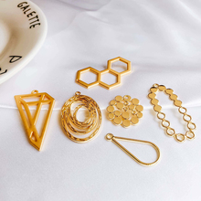 Geometric Earring Accessories Metal Pendant Eardrop Components Necklace Charms Diy Making Material Jewelry Finding 6pcs geometric earring accessories star metal pendant eardrop components necklace charms diy making material jewelry finding 6pcs