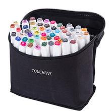Touchfive 168 cores única arte marcadores escova caneta esboço álcool baseado marcadores cabeça dupla manga desenho canetas arte suprimentos