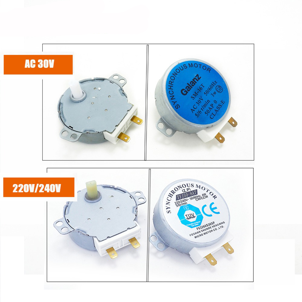 220-240V 4W Synchronous Motor TYJ50-8A7 Microwave Oven Tray Motor Microwave Turntable Turn Table Motor SM16T AC30V CW/CCW