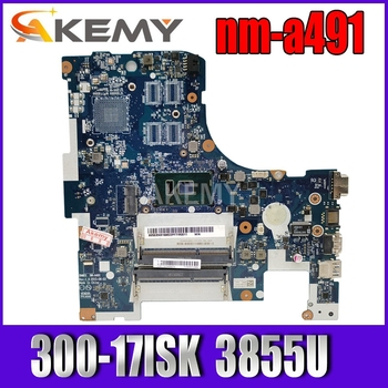 Laptop motherboard For LENOVO Ideapad 300-17ISK B71-80 Core 3855U Mainboard 5B20K61875 BMWD1 NM-A491 SR2EV image
