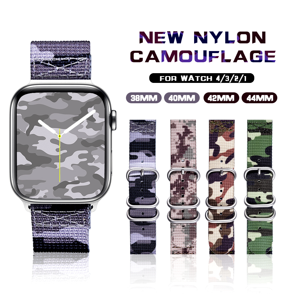 Band For Apple Watch 5 4/3/2/1 Sport Nylon Camouflage 38MM 40MM 42MM 44MM Strap For Apple Watch Bands Iwatch Series 5 4 3 2 1