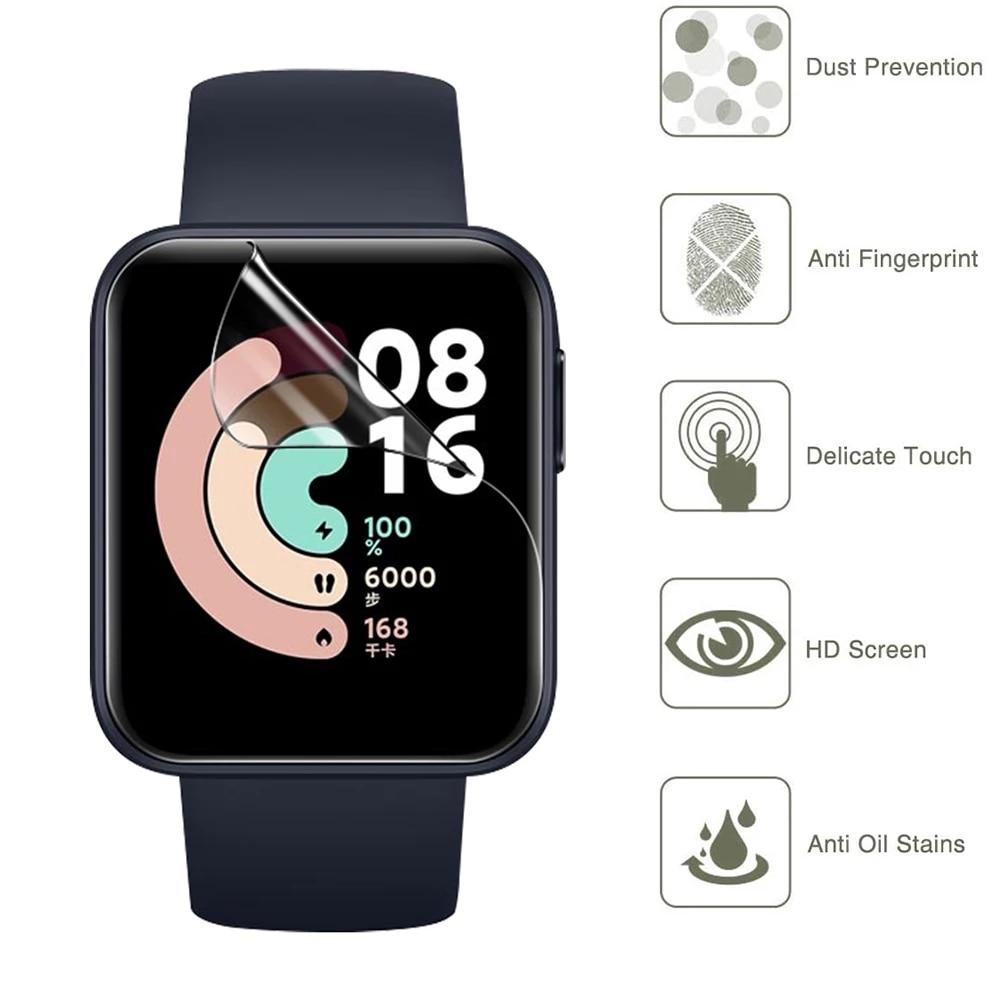 Защита экрана с полным покрытием для умных часов Xiaomi Mi Watch Lite/Redmi, мягкая Гидрогелевая защитная пленка, аксессуары (не стекло) Смарт-аксессуары      АлиЭкспресс