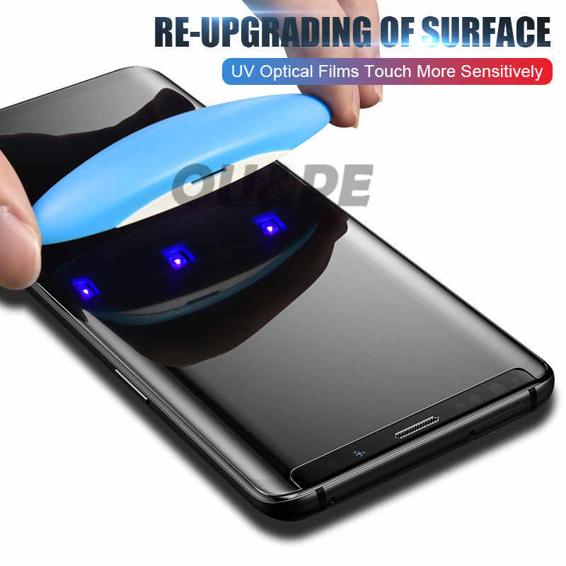 Uv Gehard Glas Voor Samsung Galaxy S9 S8 S10 Plus Note 8 9 10 100D Liquid Screen Protector Voor Samsung s20 Plus Ultra S8 Glas