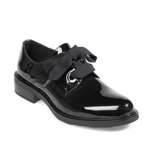 Vrouwen Lederen Flats Schoenen Patent Instappers Mode Black Riband Casual Oxford Schoenen Voor Kantoor Dames 2020 Nieuwe Herfst Elegan Dress