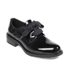Zapatos planos de cuero para mujer, mocasines de charol a la moda, negros, informales, Oxford, para oficina, elegante, Otoño, 2020