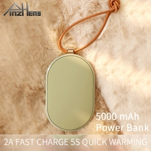 Hand-Warmer Power-Bnak 5000-Mah Pinzheng-Heater Huawei iPhone Rechargeable Type-C Xiaomi