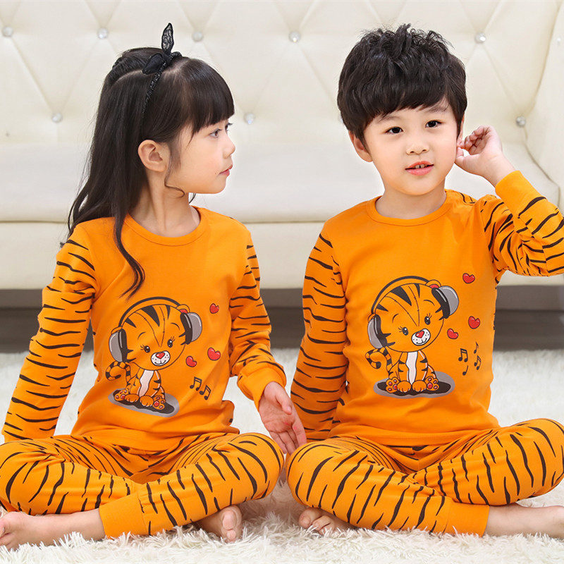 New Kids Pajamas Sets Boys Cartoon Tiger Styling Baby Kids Pijama Infantil Pyjama Girl Home Clothes Children Christmas Sleepwear
