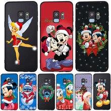 Mickey Christmas For Samsung Galaxy S6 S7 Edge S8 S9 S10 Plus Lite Note 8 9 10 A30 A40 A50 A60 A70 M10 M20 phone Case Cover etui karl lagerfeld for samsung galaxy s6 s7 edge s8 s9 s10 plus lite note 8 9 10 a30 a40 a50 a60 a70 m10 m20 phone case cover etui