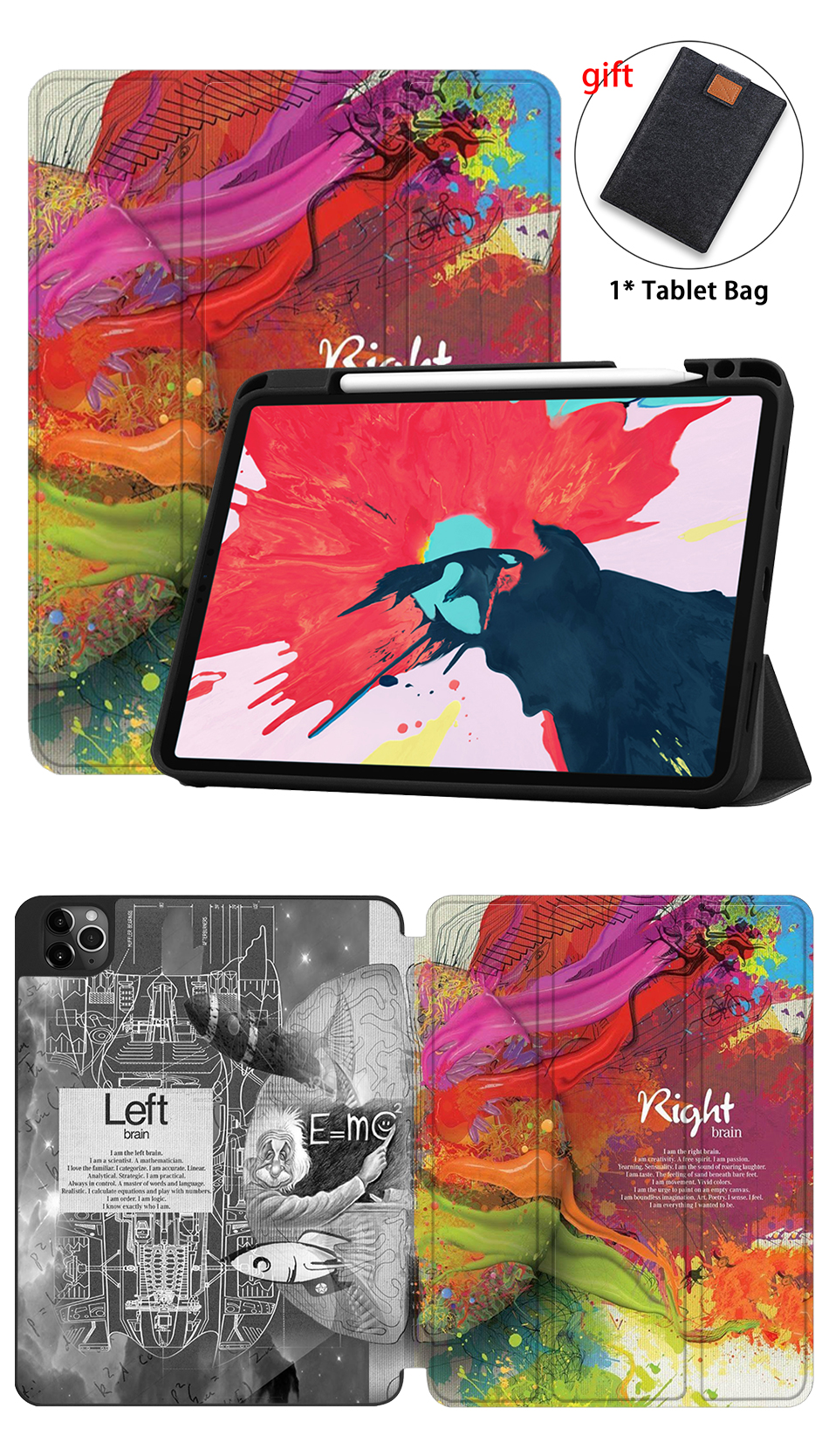 Pro MTT 2nd For inch Flip 11 Soft PU Leather Case Smart 2020 TPU iPad Gen Tablet Stand