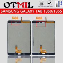 Untuk Samsung Galaxy T350 T355 LCD Touch Screen dengan Bingkai Digitizer untuk Samsung Galaxy Tab 8.0 T350 SM-T350 T355 SM-T355(China)