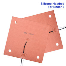 Almofada de aquecimento aquecida silicone da cama 24 v 110 v 220 v cama quente impermeável 230/235mm placa da construção para a impressora do ender 3 cr10 3d parte heatbed