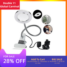 Tattoo Desk Lamps Creative 2 In 1 Clip Design USB Adjustable Loupe Led Grossissement For Nailart Beauty Makeup Tattoo Equipment