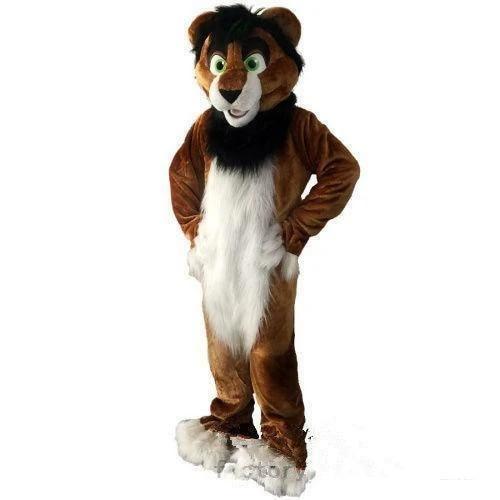Black Husky Dog Mascot Costume Animal Cosplay Adults Suit Xmas Party Fancy Dress