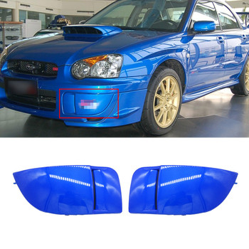 цена на 1 Pair New Car Front Bumper Fog Light Lamp Covers Mask Bumper Cover Cap Trim Protection For Subaru Impreza STI WRX 2004-2005
