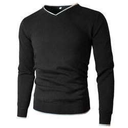 Men Sweater Pullover Male Sweaters Jersey Jumper V-Neck Autumn Winter Basic Knitwear Male Pullovers Plain Style Solid Brand MuLS