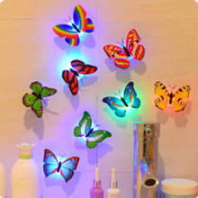 Lovely Butterfly LED Night Light Color Changing Light Lamp Beautiful Home Decorative Wall Nightlights недорого