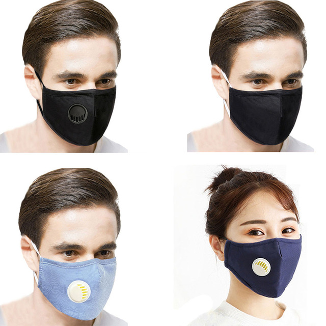 Breath Valve PM2.5 Mouth Mask Anti-flu, Influenza, Anti-Dust Anti Pollution Mask For Man and Woman 2