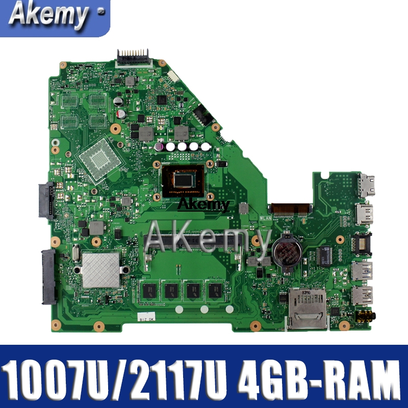 Akemy X550CC Laptop Motherboard For ASUS X550CA X550CL R510C Y581C X550C A550C Original Mainboard 4GB-RAM 1007U/2117U CPU